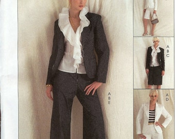 McCall's Non-Stop Wardrobe Pattern M5336 Misses Lined Jacket, Top, Skirt & Pants 6-12 UNCUT