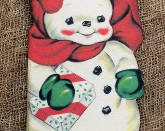 Retro Snowman Christmas Gift Tags #451