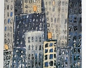 West Street. Downtown Manhattan - Print The New York City Art, Cityscape,Street Art