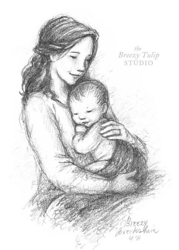 A Mother's Love - Art Print