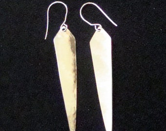 Dagger Shaped Dangly Alumilite Earrings