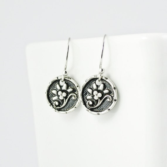 Items similar to flower jewelry lotus earrings tiny for Gemsprouts tiny plant jewelry