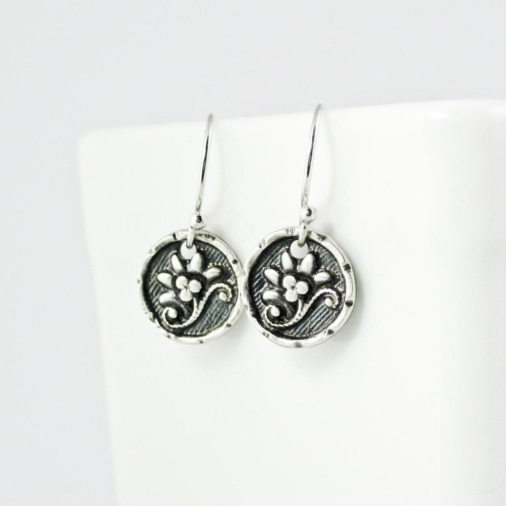 flower jewelry lotus earrings tiny by