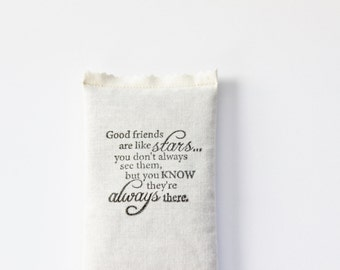 Best Friend Birthday Gift, Good Friends Are Like Stars Lavender Sachet, Long Distance Friendship Gifts