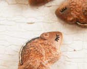 Little Striped Chipmunk bead - Sleepy Woodland Critters hand painted forest animal bead (ready to ship)