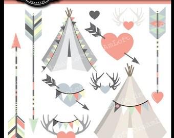 Arrows & Tee Pees Clip Art