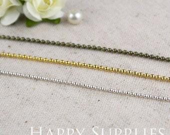 16.6 feet (5M) (1.5mm) Nickel Free - High Quality 1.5mm Ball Bead Brass Chains (W112/16914/W128)