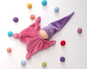 waldorf classic doll gnome pink and purple ready to ship, classic, Cuddle  toys /eco friendly gifts for kids toys