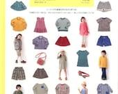 Kids Casual Clothing Patterns, Yuki Katagai, Japanese Sewing Book for Boy & Girl Dress, Easy Sewing Tutorial, Skirt, Pants, Blouse, B1114