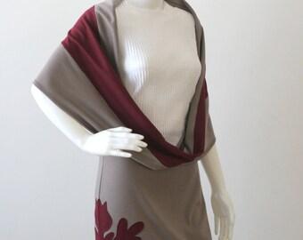 Infinity scarf Jersey scarf Neck warmer Burgundy scarf Wrap scarf