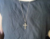 Antique Victorian Cross Necklace c.1880s