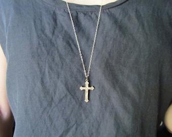 Antique Victorian Cross Necklace c.1880s