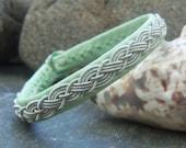 Leather Bracelet, Sami Bracelet, Lapland Bracelet, Swedish Bracelet, Saami Bracelet, Pewter Bracelet, Reduced in Price, Sale