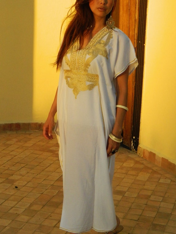 Wedding Caftan Kaftan Marrakech Style- perfect for brides gift, bridesmaids gift, beach weddings, honeymoon caftans