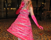 """SALE: Lady Gaga-inspired """"Glee"""" Costume Dress- great for Labyrinth of Jareth or Conventions"""