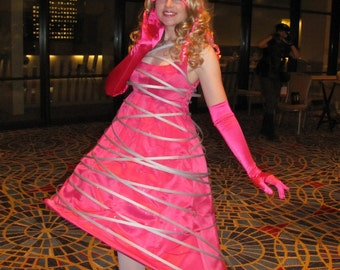 "SALE: Lady Gaga-inspired ""Glee"" Costume Dress- great for Labyrinth of Jareth or Conventions"