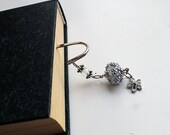 Beaded silver Bookmark Flower
