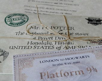 """A """"Lost in the Owl Post"""" Personalized Hogwarts Acceptance Letter from Harry Potter"""