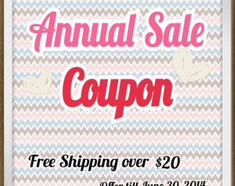 NOT A LISTING -- Annual Sale Coupon