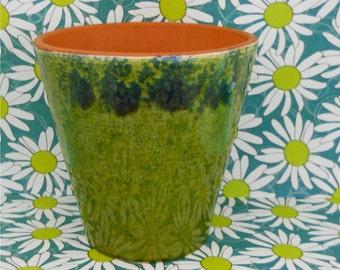 Mottled Olive & Forest Green Planter