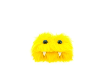 Sunny the Eco Friendly Monster. Yellow Furry Altered Altoid Tin Monster. Great for gift cards, party favors, teen or child wallet Kawaii