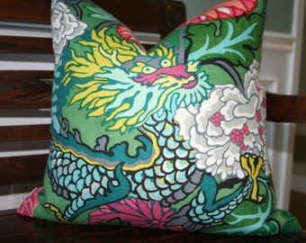 DECORATIVE PILLOW COVER- 20x20- Chiang Mai Dragon by F. Schumacher