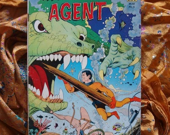Undersea Agent No 6 1967 Comic Book Sci Fi Wally Wood Underwater Monsters Doomsday The Sea Gil Kane