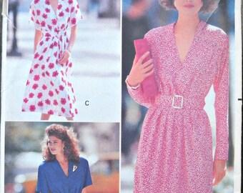 Butterick 3361, Women's' Dress Pattern, Sizes 6, 8, 10, Factory Folded Uncut, Vintage 1989