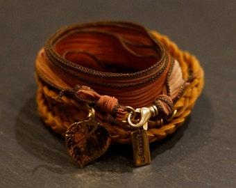 Golden Leaf  Warrior/ warrior wrap/bracelet/necklace