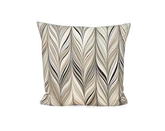 Decorative Pillow| Firenze Blush By MaryMcdonald | Pink Brown Taupe Pillow| Linen Cushion
