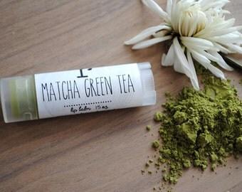 Matcha Green Tea Lip Balm, Beeswax, Lip Butter, Matcha Powder, Green Tea Lip Balm, Matcha Lip Balm