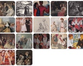 Brides, Weddings and rendezvous. Set of 17 Vintage Prints, Postcards -- 1950s-1980s