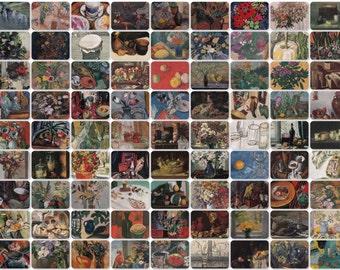 Still Lifes -- Cafe, Restaurant, Kitchen. Set of 81 Vintage Prints, Postcards -- 1950s-1980s