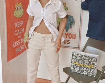 1/6th scale female cream jeans pants trousers for female figures