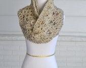 Crochet Infinity Scarf- Chunky Oatmeal