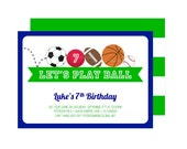 Let's Play Ball Invitation : By Bloom Designs