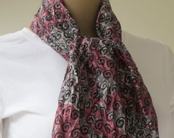 Handprinted Silk  Scarf