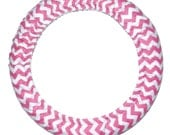 Steering Wheel Cover Hot Pink Chevron-Cute Car Accessory-Pink Car Decor-Girly Wheel Cover-Chevron Wheel Cover-Steer Wheel Cover
