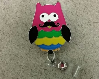 Owl Pendant Badge Reel