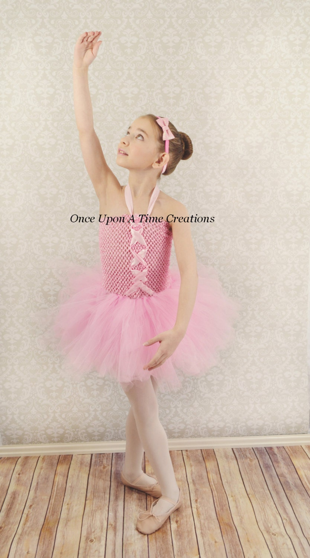 Ballerina Pink Tutu Dress Spring Birthday Halloween