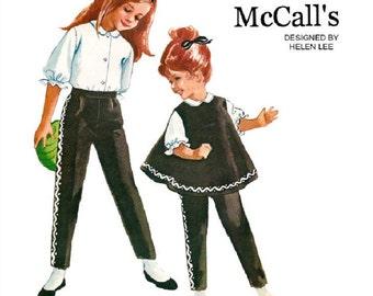 McCalls 6460 Vintage 60s Helen Lee Designed - Smashing Girls Tapered Pants - Tent Dress - Blouse Sewing Pattern Size 5 breast 23