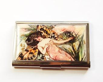 Business Card Case, Card case, , Fantasy, business card holder, Fairy, Fairies, Fairy card case (3188)