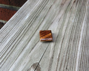 Wood Tie Tack Magnetic Handmade Zebrawood Rustic