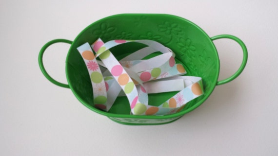 RIBBON / 8 YDS / Dot Flowers Twill  / Bright Spring Summer Colors