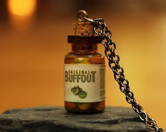 Fallout Inspired Buffout Pendant - Glow in the Dark