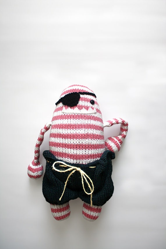 Handmade Knit Pirate Monster