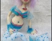Cloth Doll, Cloth Art Doll, Mermaid Doll, OOAK Doll, Textile Doll, Fiber Art Doll, Collectible Doll, Soft Doll, Art Doll, Fabric Art Doll