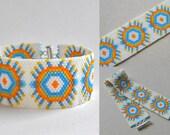 Peyote  bracelet  - beadwork jewelry - beaded bracelet