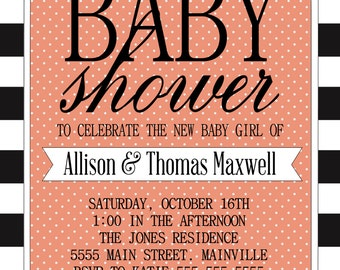 Baby Shower Invitation (digital file)