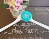SURPRISE SALE. Personalized Bridal Wedding Hanger. Bridal Hanger. Bridal Party. Custome Hanger. Comes With Bow.